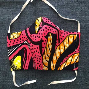African Pink Fabric Face Mask for Covid-19