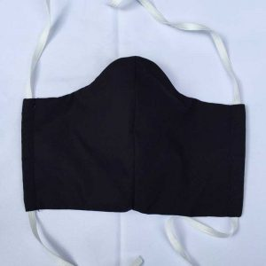 Black Fabric Face Mask for Covid-19