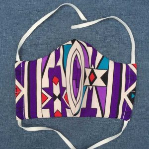 Purple Ndebele Face Mask for Covid-19