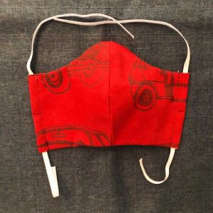 Red Fabric Face Mask made for Covid-19