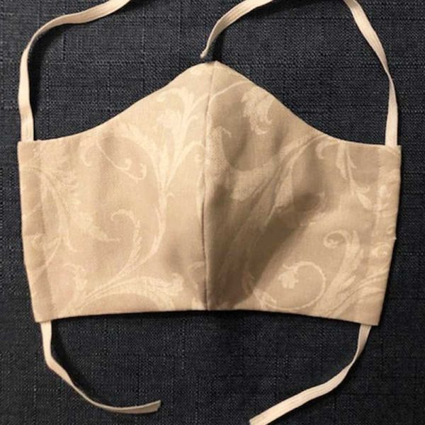 White Leaf Fabric Face Mask for Covid-19